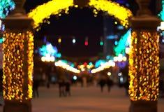 户外圣诞节城市 库存图片
