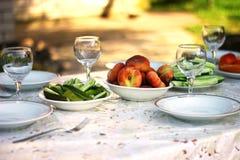 户外夏天午餐 库存图片