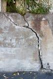 户外大高明的混凝土墙 免版税库存图片