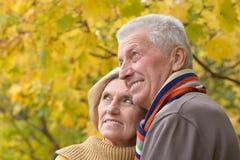 户外夫妇前辈 免版税库存照片