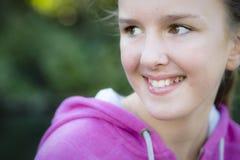 户外女孩非离子活性剂 免版税库存图片
