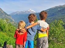 户外孩子 免版税库存图片