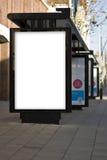 户外广告大模型模板 免版税库存照片