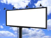 户外广告海报的广告牌空白的白色或模板的空白的广告牌广告嘲笑 免版税库存照片