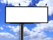 户外广告海报的广告牌空白的白色或模板的空白的广告牌广告嘲笑 免版税图库摄影