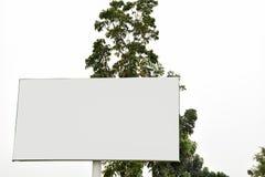 户外广告海报的广告牌空白 免版税库存照片