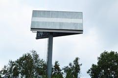 户外广告的波兰人与空的地方 库存照片