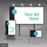 户外广告设计 免版税库存照片