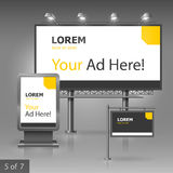 户外广告设计 免版税库存图片