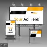 户外广告设计 库存图片