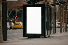 户外广告风雨棚 库存图片