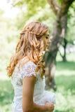 户外新娘发型 免版税库存图片