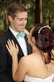 户外新娘和新郎(14) 免版税库存照片