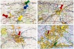 户外旅行地图 免版税库存图片