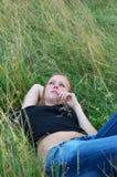 户外梦想妇女年轻人 库存照片
