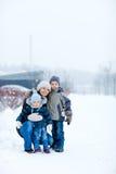 户外系列冬天 免版税库存图片