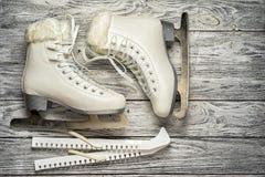 户外背景特写镜头女性现有量藏品冰滑冰雪 免版税库存图片