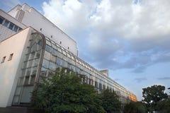 户外芬兰国家歌剧院。 赫尔辛基。 图库摄影