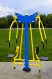 户外运动的运动器具在体育场附近 图库摄影