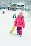 户外婴孩冬天。 免版税图库摄影