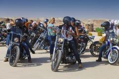 户外以色列骑自行车的人俱乐部 免版税库存图片