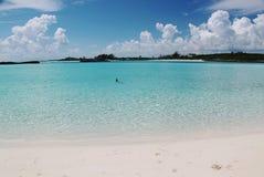 戽水者 大西洋和蓝天绿松石水  atkinson 库存照片