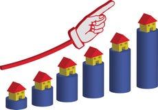 房产市场只上升  皇族释放例证
