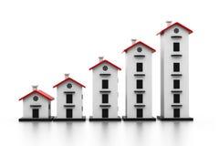房产市场的图表 向量例证