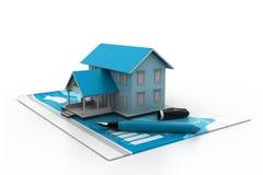 房产市场的图表 免版税库存图片