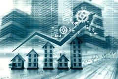 房产市场的图表 免版税库存照片