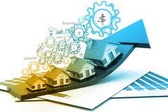 房产市场的图表 免版税图库摄影