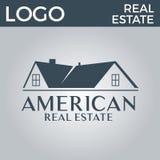房地产、大厦、议院、建筑和建筑学商标传染媒介设计 库存图片