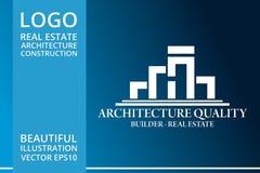 房地产、大厦、议院、建筑和建筑学商标传染媒介设计 图库摄影