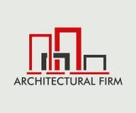 房地产、大厦、建筑和建筑学商标传染媒介设计 皇族释放例证