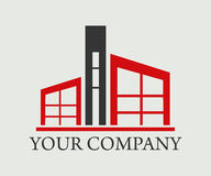 房地产、大厦、建筑和建筑学商标传染媒介设计 库存照片