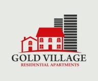 房地产、大厦、建筑和建筑学商标传染媒介设计 免版税库存照片