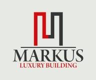 房地产、大厦、建筑和建筑学商标传染媒介设计 免版税图库摄影