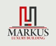 房地产、大厦、建筑和建筑学商标传染媒介设计 图库摄影