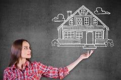 房地产、抵押和物产概念 免版税库存图片