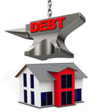 房地产债务 免版税图库摄影