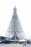 房地产和公司建筑的企业概念:查寻东京Skytreesky树看法,日本wi地标  免版税库存图片