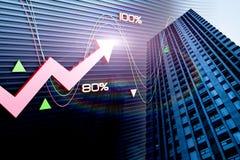 房地产和经济发展 免版税库存照片