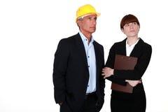 房地产商人和助理 图库摄影