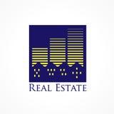 房地产城市商标 免版税库存照片