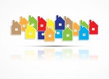 房地产城市电路镜子企业背景 图库摄影