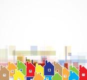 房地产城市电路镜子企业背景 库存图片