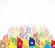 房地产城市电路镜子企业背景 库存照片