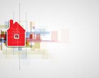 房地产城市电路镜子企业背景 免版税库存照片