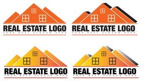 房地产或地产商商标传染媒介 免版税库存图片