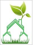 房地产房子商标传染媒介 免版税库存照片
